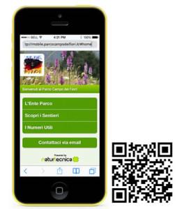 Parco Regionale Campo dei Fiori parcode qrcode mobile html 5